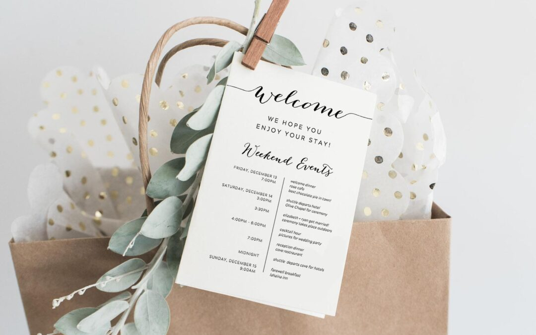 Wedding Welcome Bag ideas!